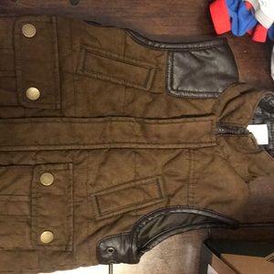 Boys brown vest